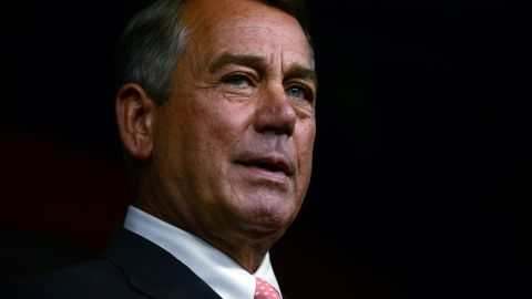 House Speaker John Boehner announces his resignation during a press conference on Capitol Hill September 25, 2015 in Washington, D.C.