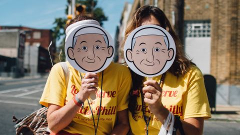 """The Aleteia social media campaign <a href=""""https://twitter.com/popeishope"""" target=""""_blank"""" target=""""_blank"""">@Popeishope</a> came up with the hashtag #goodiswinning so that people could share their experiences with the Pope's visit and follow along during his trip."""