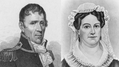 Andrew Jackson and his wife, Rachel. She would die before his inauguration.