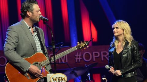 """Country stars Blake Shelton and Miranda Lambert stunned fans when they announced in July that they were divorcing after four years of marriage. There was much <a href=""""http://www.cnn.com/2015/07/21/entertainment/blake-shelton-miranda-lambert-fans-feat/"""">sadness on social media over the split. </a>She <a href=""""http://www.cnn.com/2019/02/18/entertainment/miranda-lambert-brendan-mcloughlin-married/index.html"""" target=""""_blank"""">married police officer Brendan McLoughlin in 2019</a> and Shelton has been dating singer and fellow """"The Voice"""" coach Gwen Stefani since 2015."""