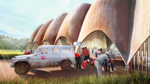 """Each droneport will take two to three years to build, at a projected cost of about $300,000.<br /><br />""""We wanted a concept that was really cheap,"""" said Ledgard, """"and the drones themselves will contain a tiny amount of super high-tech and a lot of low-tech.""""<br /><br />Built to be robust, economical and simple to repair, they will be powered by electric engines and have a fixed wing design, more closely resembling commercial planes rather than quadrocopters."""