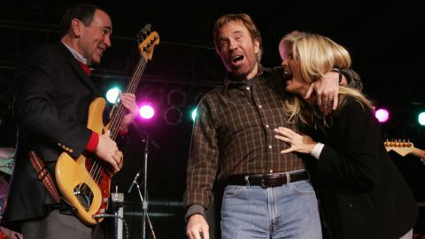 """Actor Chuck Norris has a very public bromance with former GOP candidate Mike Huckabee. When Huckabee announced his candidacy, Norris told <a href=""""http://www.nytimes.com/politics/first-draft/2015/05/05/mike-huckabee-has-chuck-norris-in-his-corner-again/?_r=0"""" target=""""_blank"""" target=""""_blank"""">The New York Times</a> in a statement, """"I still believe Mike Huckabee is the most qualified.""""<br /><br />Norris also endorsed Huckabee when he ran for President in 2008."""