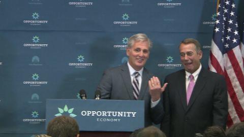 Boehner McCarthy GOP House Leadership weekly meeting tan good man Republican party _00000116.jpg