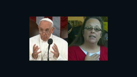 Pope Francis and Kim Davis