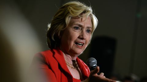 Democratic Presidential candidate Hillary Clinton speaks at a Reception for New Hampshire Organized Labor Community and Allies event September 5, 2015 in Manchester, New Hampshire.