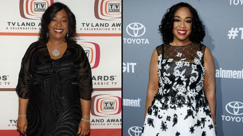 """Shonda Rhimes, creator and producer of such hit shows as """"Grey's Anatomy,"""" """"Scandal"""" and """"How to Get Away with Murder,"""" has undergone quite a transformation. She credits diet and exercise for her loss of more than 100 pounds."""