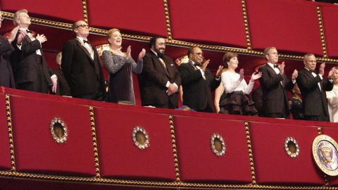 In 2001, Andrews was one of five Kennedy Center honorees along with pianist Van Cliburn, actor Jack Nicholson, opera singer Luciano Pavarotti and music maestro Quincy Jones.