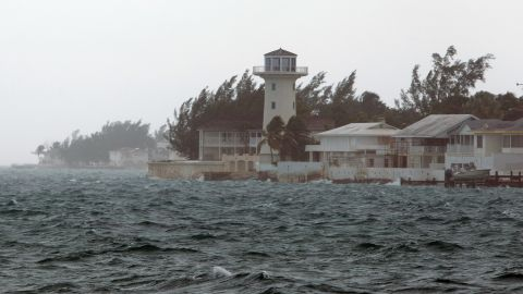 Wind and rain from Hurricane Joaquin affect Nassau, Bahamas, Friday, October 2.