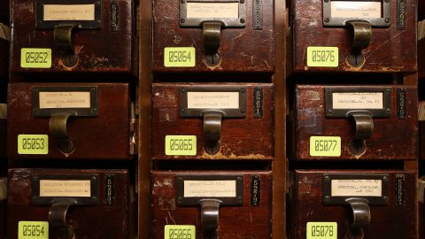 At most libraries, the card catalog has become a thing of the past.