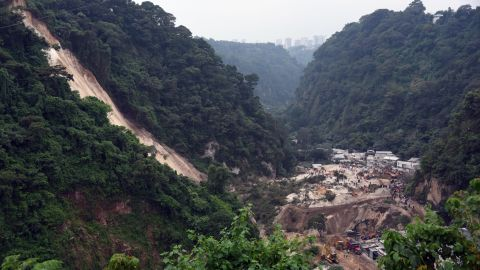 The scene of the mudslide in El Cambray, Guatemala on Friday, October 2.