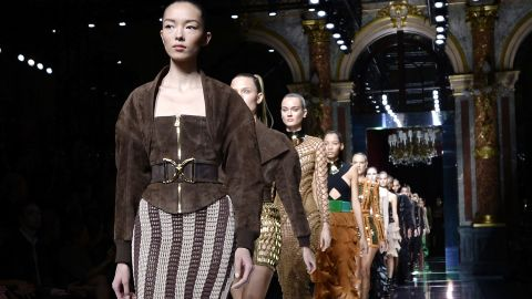 """At Balmain, our <a href=""""http://edition.cnn.com/2015/09/30/fashion/olivier-rousteing-guest-editor-launch-video/index.html"""">October guest editor Olivier Rousteing</a> sent supermodel after supermodel (Joan! Gigi! Kendall! Doutzen!) down the runway in the most Instagram-friendly show of the season."""