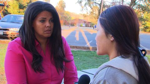 2015-10-04 12:25:59 This is an Exclusive interview with the first victim to talk on camera from the Umpqa Community College shooting. She was shot in the hand and lied covered in blood from the others who were shot right next to her. She did not want to show her face