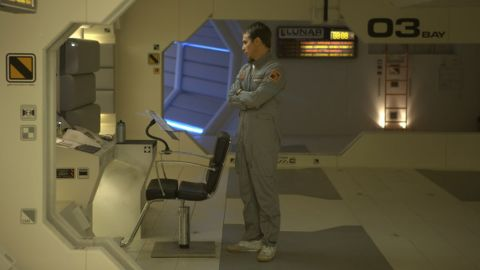 """In 2009's thriller """"Moon,"""" Sam Rockwell played a commercial astronaut in the year 2035 who worked a solitary stint at a mining facility on the dark side of the moon. He was alone there for three years -- until, suddenly, he wasn't."""