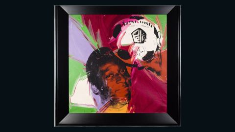 """The grace and skill of Brazilian legend Pele captured the eye of pop art pioneer Andy Warhol, who produced this portrait after meeting the footballer in the 1970s. It features in an exhibition called """"Pele: Art, Life, Football"""" at the Halcyon Gallery in London. Pele said of Warhol: """"He gave continuity to my life and my message outside of the football pitch ... It's because of him that today you see many artists who have works of me."""""""