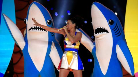 """Did you already forget about Left Shark, of Katy Perry Super Bowl halftime show fame? For shame! Dress up in ocean blue and cut a fin out of cardboard that you can decorate with tin foil or construction paper. Or if you've got an old Hotdog on a Stick uniform lying around, you can <a href=""""https://pbs.twimg.com/media/B8zZLVwIgAAAqFa.jpg"""" target=""""_blank"""" target=""""_blank"""">be Katy herself</a>."""