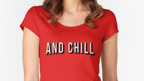 """There are a few ways to go about """"<a href=""""http://knowyourmeme.com/memes/netflix-and-chill"""" target=""""_blank"""" target=""""_blank"""">Netflix and chill</a>,"""" one of the Internet's more subtle euphemisms for inviting someone over for sexual purposes. The key component is a T-shirt to signify Netflix, maybe one with the company's logo or the slogan """"and chill,"""" as depicted here. The remaining props could include a bag of ice (get it?) or an overnight bag containing wine, condoms, comfortable socks, a toothbrush and anything else you might bring along for that not-so-spontaneous hookup."""