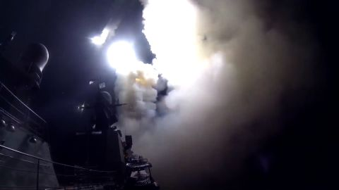 title: Massive strike with precision weapons on targets in Syria LIH of the Caspian Sea    LIH is russian for ISIS    duration: 00:02:12  site: Youtube  author: null  published: Wed Oct 07 2015 08:47:49 GMT-0400 (Eastern Daylight Time)  intervention: no  description: This night ship strike group of the Russian Navy launched cruise missiles against ISIS infrastructural facilities in Syria.