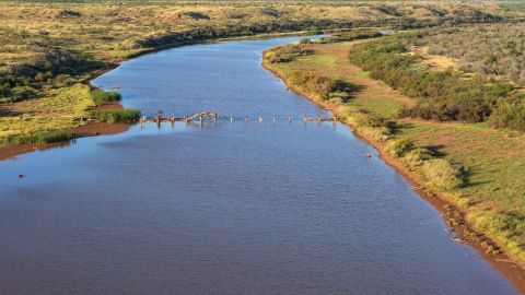 There is enough water in one lake alone on the property to source the 105,000-strong population of nearby Wichita Falls.