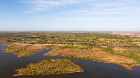 Such is the vast expanse of land, a helicopter tour of the property takes an hour and 45 minutes.