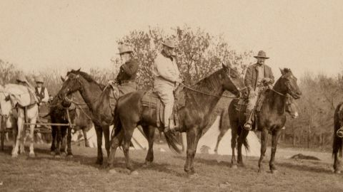 Waggoner Ranch has a rich history. Among its more illustrious visitors was the former American president Theodore Roosevelt (center).