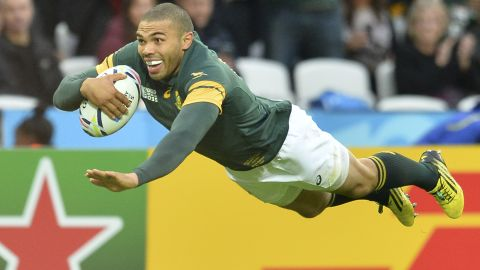 The Springboks had led 14-0 at halftime, with a penalty try and center Damien de Allende's first international five-pointer, but Habana's first soon after the interval (pictured) opened the floodgates at London's Olympic Park.