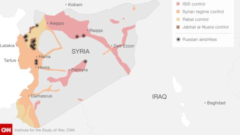 Russian airstrikes in Syria from September 30 to October 5