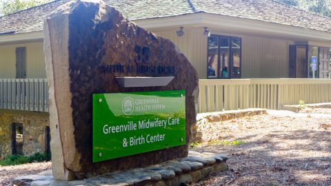 The Greenville Midwifery Center and Birth Center has a basic clinic staffed by midwives and an upscale birth center with three birthing rooms.