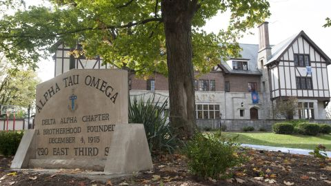 Charter of Indiana University's Alpha Tau Omega fraternity has been revoked after a video surfaces of frat member and an exotic dancer in a sexually explicit act.
