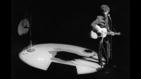 Dylan performs at Paris' Olympia theater on May 24, 1966, his 25th birthday. He followed the Paris show with two shows in London. They would be the last live concerts he would do until he re-emerged at Britain's Isle of Wight Festival in 1969.