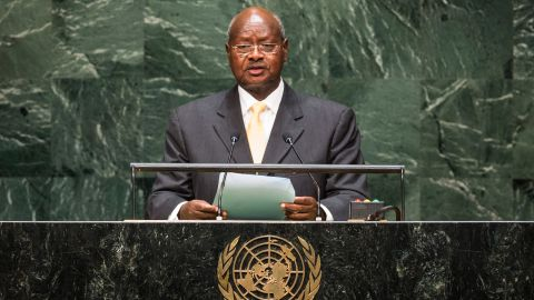 Yoweri Museveni, seen speaking at the U.N. in 2014, has been president of Uganda since 1986.