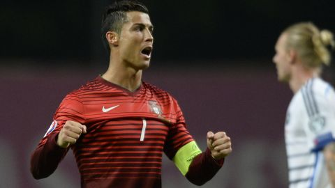Portugal captain Cristiano Ronaldo's five goals helped his country top Group I. The 2004 finalist won seven games in a row, after losing its opening match to Albania. Third-placed Denmark went into the playoffs.