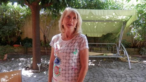"""Bernadette has looked after her husband for the past 39 years. """"It's difficult because it's true that I am no longer young,"""" she says. """"He'll die without being looked after. If I don't do it, who will?"""""""