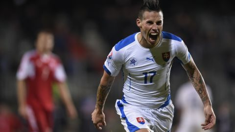 Slovakia reached its first major tournament with a 4-2 victory over Luxembourg. Its first win in four matches meant Ukraine finished third in Group C and will face a playoff.