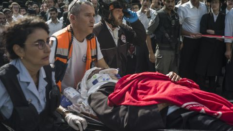 """Medics attend the scene of a stabbing attack in Jerusalem on October 13. Random, unpredictable attacks <a href=""""http://www.cnn.com/2015/10/14/middleeast/israel-palestinian-tensions/index.html"""" target=""""_blank"""">have stumped Israeli police,</a> CNN's Ben Wedeman reported."""