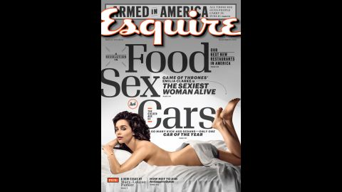 British actress Emilia Clarke appears on the cover of the November issue of Esquire.