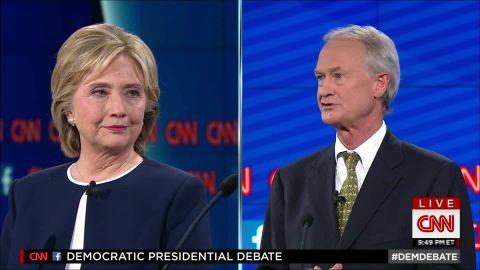 hillary clinton lincoln chafee democratic debate email scandal 21_00002713.jpg