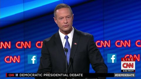 governor martin omalley democratic debate lets talk about the issues_00003530.jpg