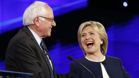 """One of the debate's memorable moments was when Sanders and Clinton shook hands following Sanders' take on the Clinton email scandal. """"Let me say something that may not be great politics, but the secretary is right -- and that is that the American people are sick and tired of hearing about the damn emails,"""" Sanders said. """"Enough of the emails, let's talk about the real issues facing the United States of America."""""""