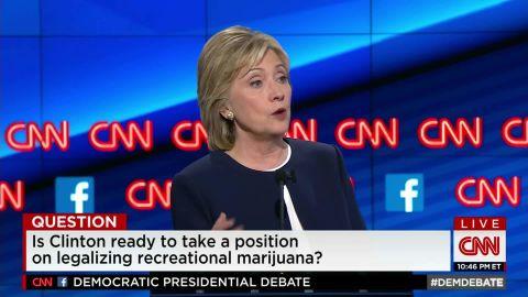 hillary clinton democratic debate marijuana legalization sot_00003712.jpg