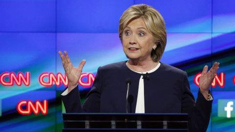 """Clinton is the national front-runner in the Democratic race. """"I would not ask anyone to vote for me based on my last name,"""" she said during the debate. """"I'm campaigning because I think I have the right combination of what Americans are looking for ... and I can take the fight to Republicans."""""""