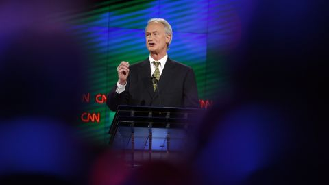 """Chafee touted his experience, saying he is the only candidate who has been a mayor, senator and governor. """"I have had no scandals. I've always been honest. I have the courage to take the long-term view, and I've shown good judgment,"""" he said in his opening statement."""