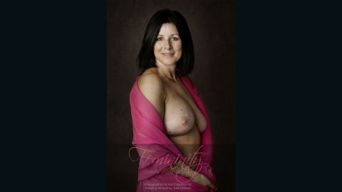 """""""I'm just stunned by the results. It's just beautiful,"""" Anna Beckingham said, describing her portrait. She lost her right breast to cancer and had it reconstructed."""