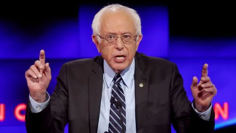 LAS VEGAS, NV - OCTOBER 13:  Democratic presidential candidate Sen. Bernie Sanders (I-VT) takes part in a presidential debate sponsored by CNN and Facebook at Wynn Las Vegas on October 13, 2015 in Las Vegas, Nevada. Five Democratic presidential candidates are participating in the party's first presidential debate.  (Photo by Joe Raedle/Getty Images)