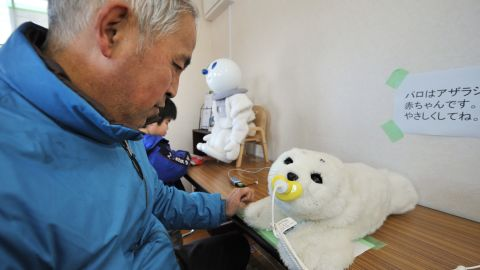 The therapeutic robot baby seal called 'Paro' has been used to comfort people affected by disasters in Japan, as well as the elderly and disabled.