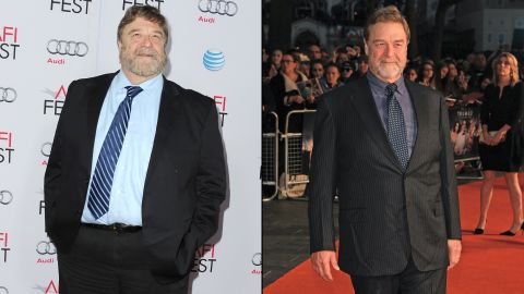 """""""Roseanne"""" star John Goodman is known for his burly frame in addition to his acting chops. Goodman has slimmed down noticeably, as was evident at a screening of """"Trumbo"""" in October 2015. The photo on the left was snapped just a year earlier at a showing of """"The Gambler."""""""