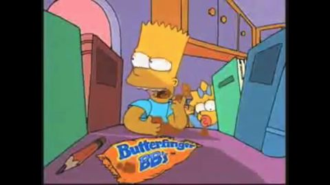 """The Butterfinger chocolate bar has been around since the 1920s, and an offshoot -- Butterfinger BBs -- was introduced in the early 1990s, with Bart Simpson as a spokescharacter. Unlike """"The Simpsons,"""" however, the ball-shaped chocolate didn't last, and it was discontinued in 2006."""
