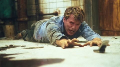 """""""Saw"""" brought mass-market horror films a new level of graphic intensity. In the 2004 film, two men are chained in a bathroom, with each directed to kill the other. Its success led to six sequels and other films determined to out-gross the last -- in more ways than one."""