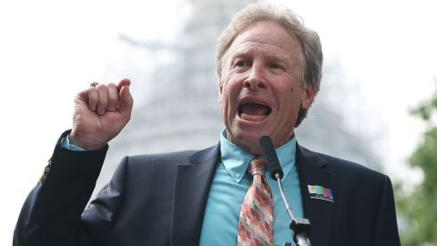 WASHINGTON, DC - SEPTEMBER 10: Andy Parker, father of murdered TV reporter Alison Parker, speaks during a anti gun rally on Capitol Hill September 10, 2015 in Washington, DC. Parker joined Everytown Survivor Network, and Moms Demand Action for Gun Sense in America, to urge Congress in passing legislation to reduce gun violence. (Photo by Mark Wilson/Getty Images)