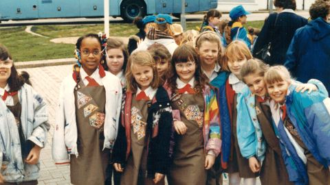 <strong>1990s:</strong> Girl Scouts introduced the technology badge in the 1980s, signaling the importance of girls' participation in STEM (science, technolgoy, engineering and math) programs.