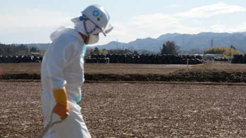 TOMIOKA, JAPAN - MARCH 10:  Workers remove soil during decontamination work on March 10, 2015 in Tomioka, Fukushima prefecture, Japan. On March 11 Japan commemorates the fourth anniversary of the magnitude 9.0 earthquake and tsunami that claimed more than 18,000 lives, and subsequent nuclear disaster at the Fukushima Daiichi Nuclear Power Plant.  (Photo by Ken Ishii/Getty Images)